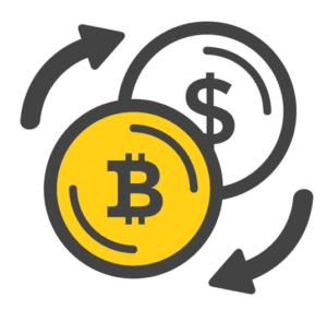 Обмен биткоина на национальную валюту